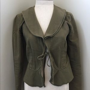 Urban Outfitters green tie jacket